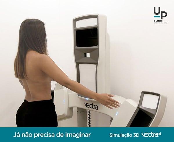 Simulação 3D Vectra Up Clinic